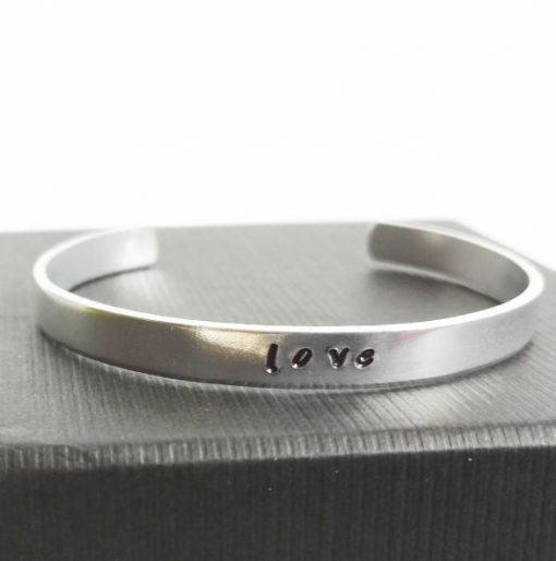 love custom stamped bangle | carlalouise.com
