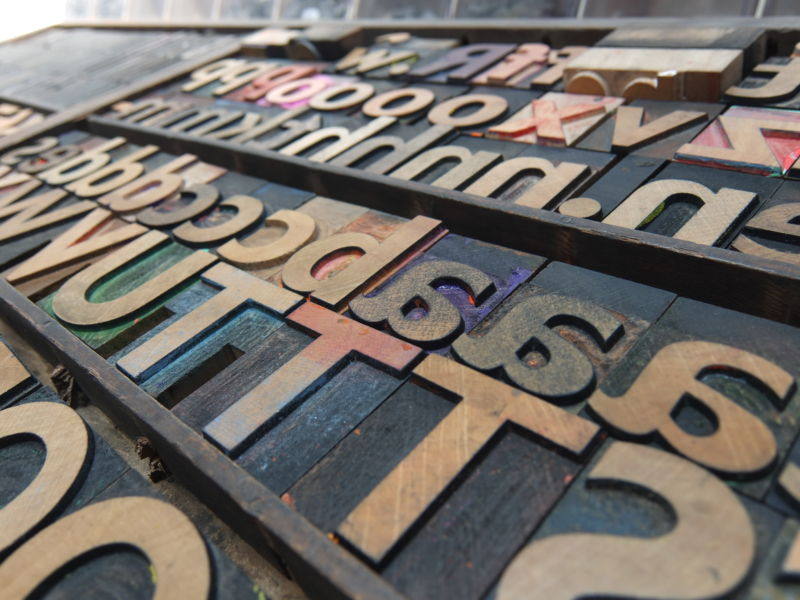 wooden type at St Botolphs | carlalouise.com