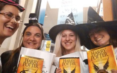 A Harry Potter midnight party