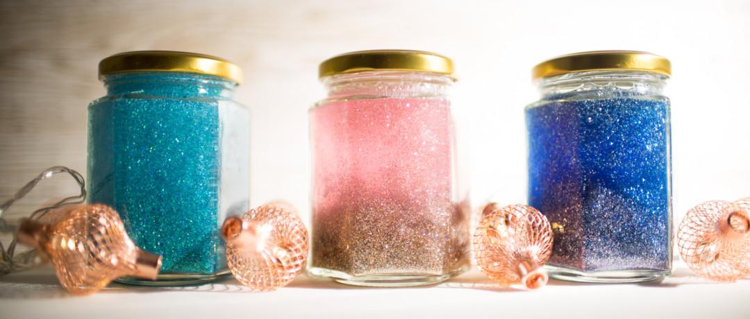 Glitter jars by Carla Louise | carlalouise.com