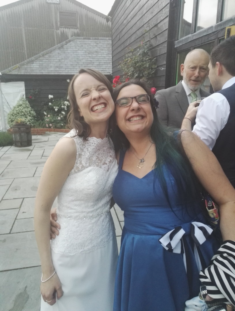 me with the blushing (erm...) bride Jenny | carlalouise.com