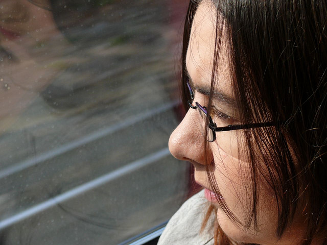 self portrait on the train circa 2008 | carlalouise.com