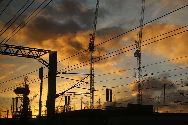 railway-sunset