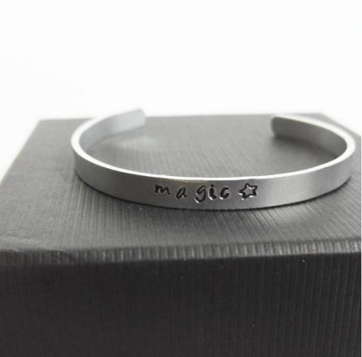 magic custom stamped bangle | carlalouise.com