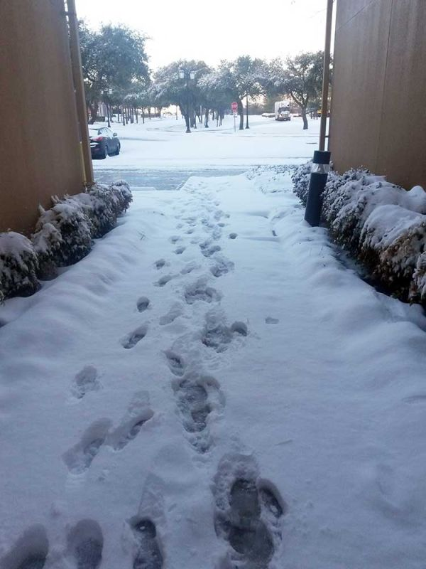 snow-footprints