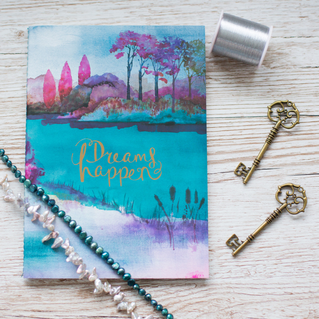 Dreams happen notebook and craft ingredients | carlalouise.com