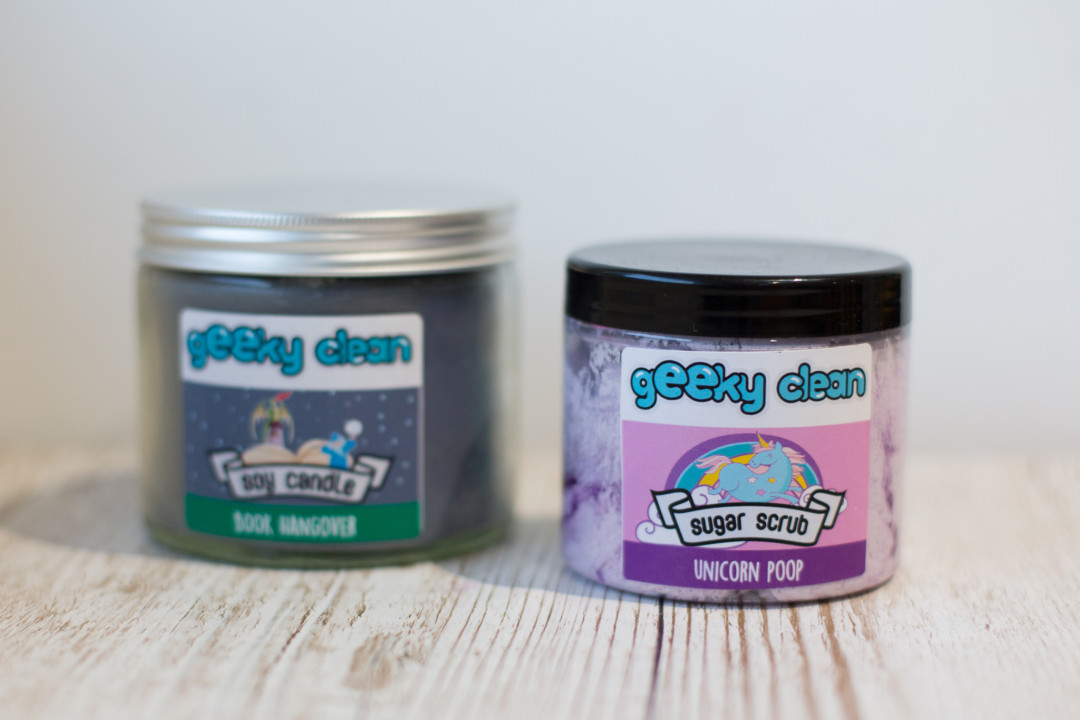 geeky clean candle and scrub | carlalouise.com