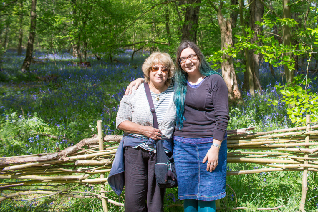 Mum and I at Arger Fen for the bluebells, Dad's 2 month anniversary | carlalouise.com
